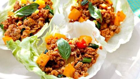 Thai Lettuce Wraps with Minced Chicken